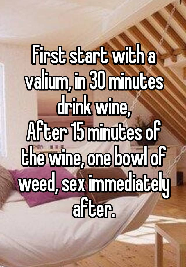 sex after drinking wine