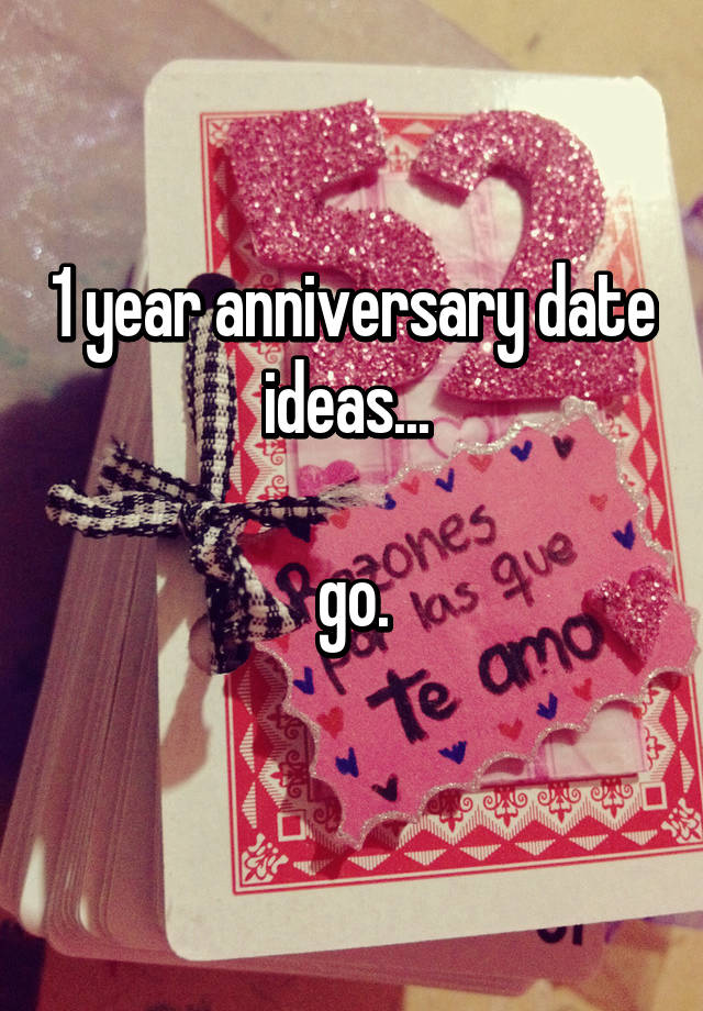 3 year anniversary date ideas