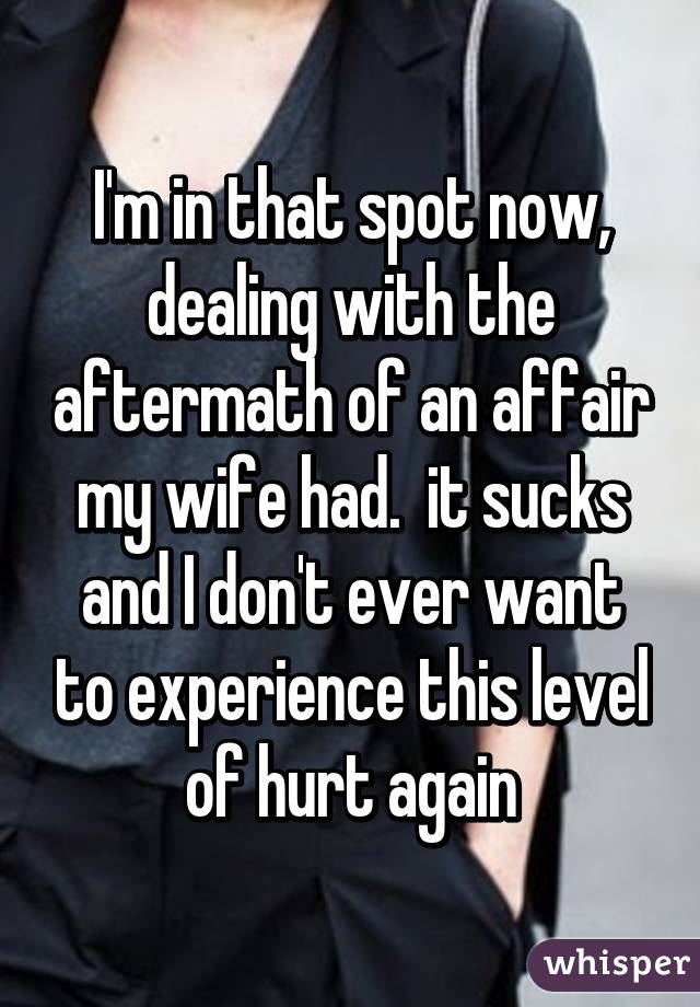 Dealing with an affair aftermath