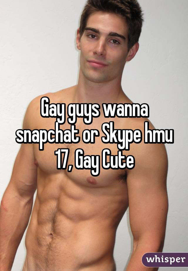 Gay people snapchat