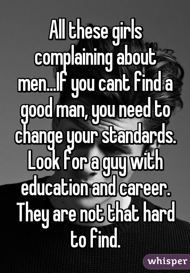 can t find a good man