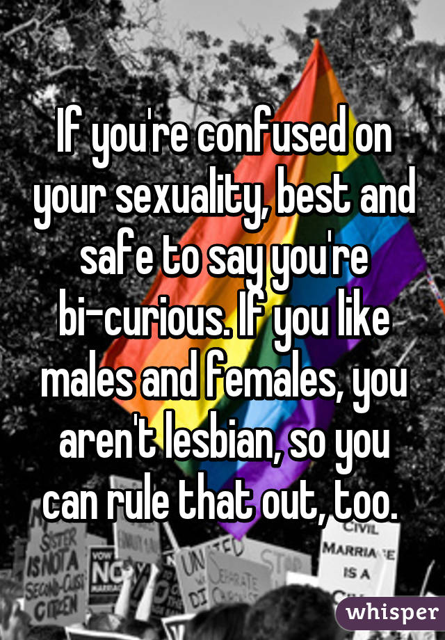 Curious about sexuality