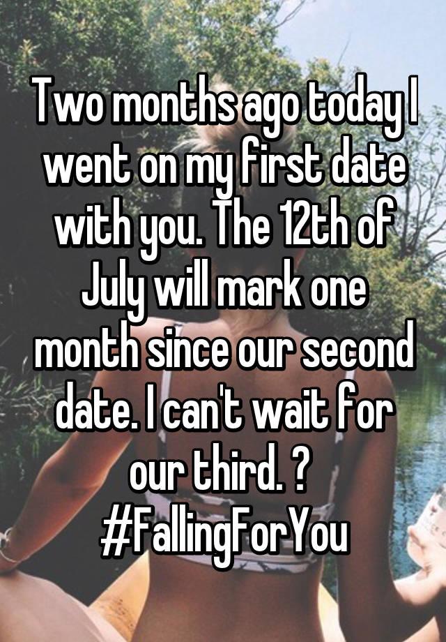 first date second date third date