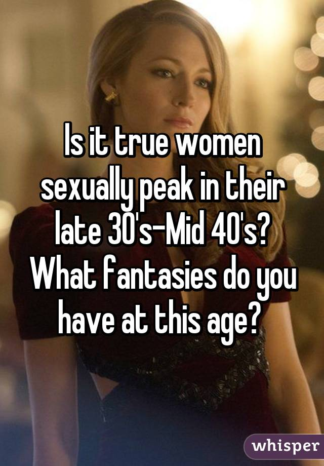 women in their mid 40s