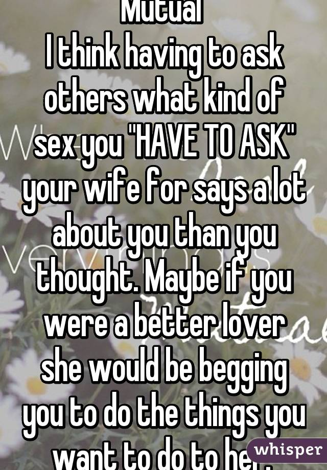 sexy questions to ask your wife