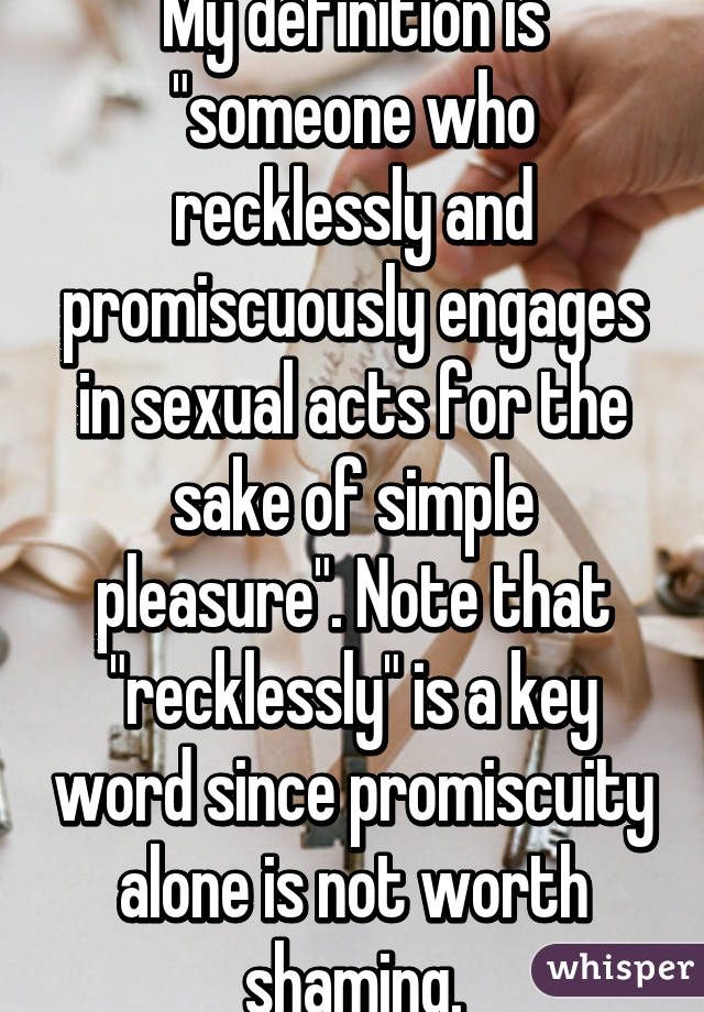 define the term promiscuity