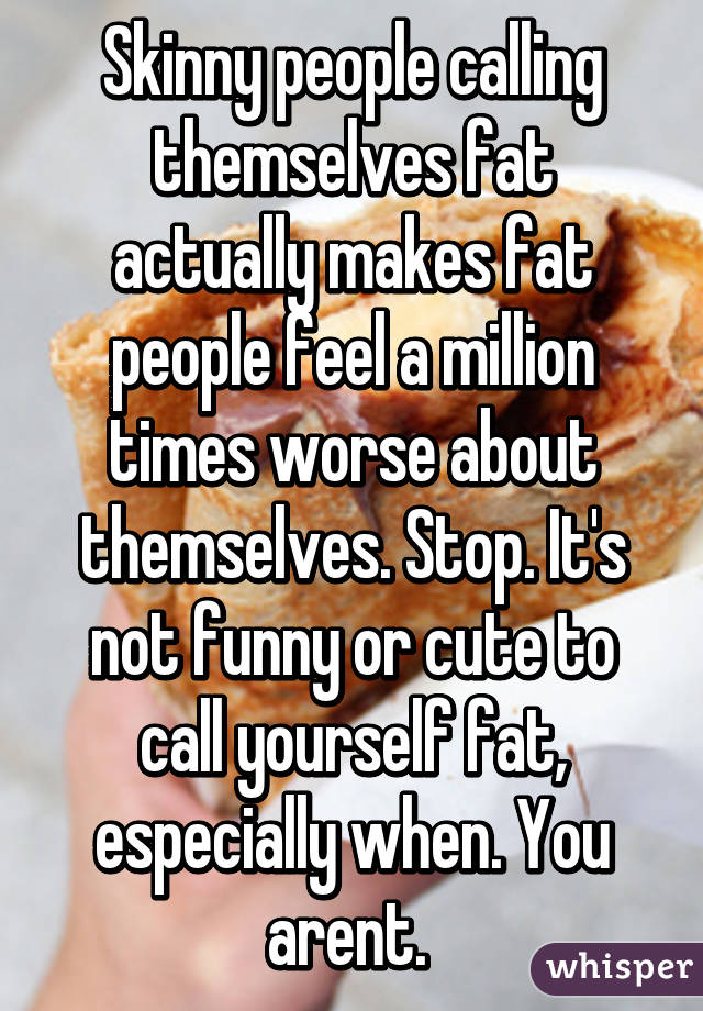 Fat People Are Not Funny