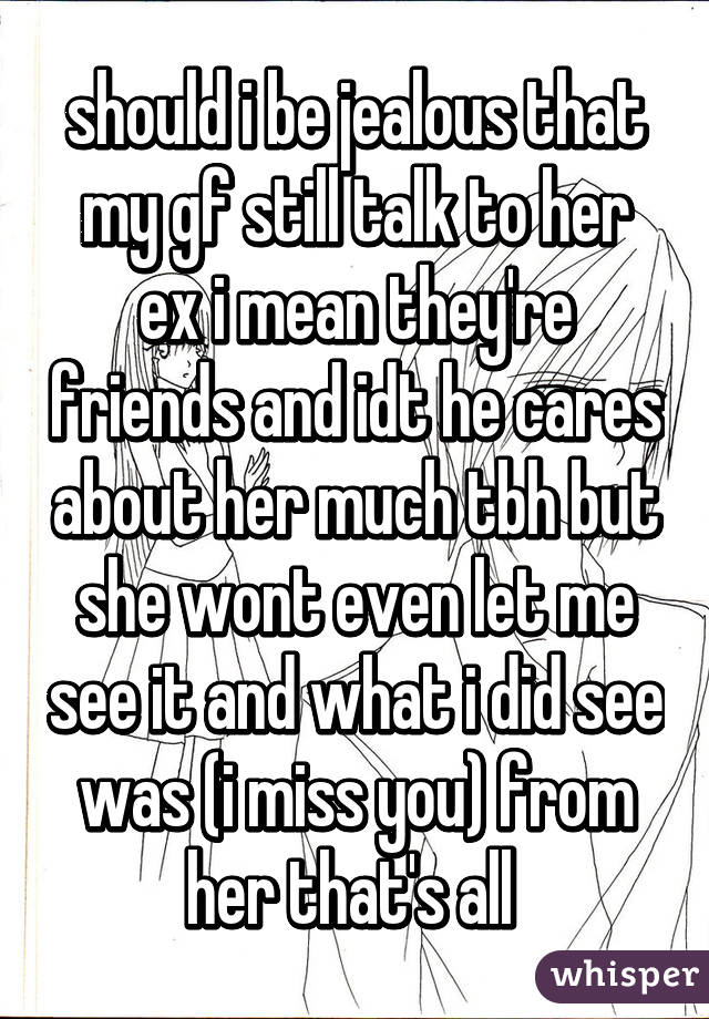 my girlfriend is friends with her ex