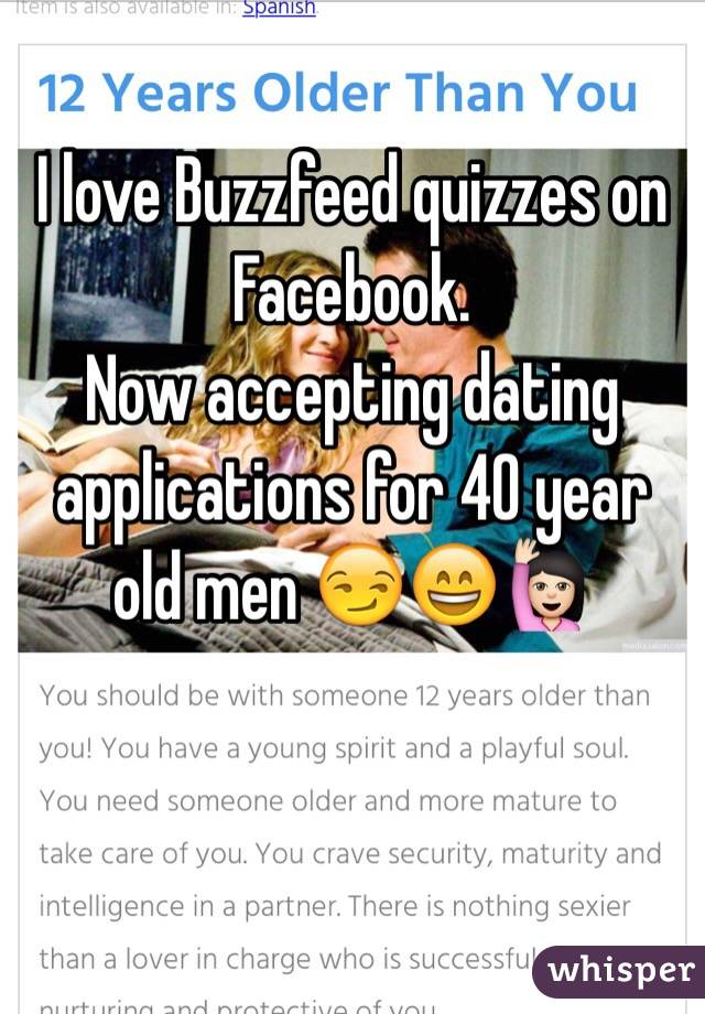 I love Buzzfeed quizzes on Facebook  Now accepting dating