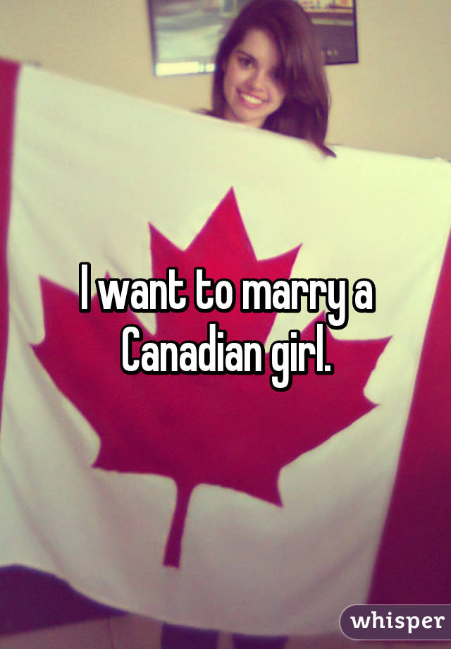 how to marry a canadian