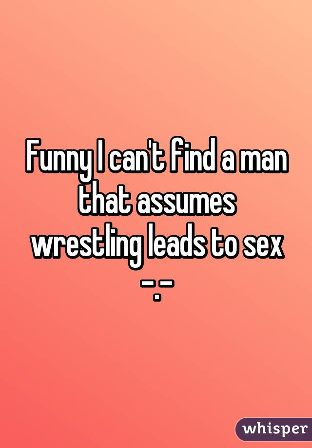 Wrestling Leads To Sex