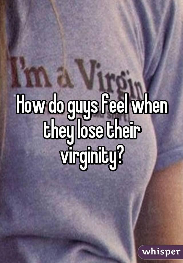 virginity Guys feel