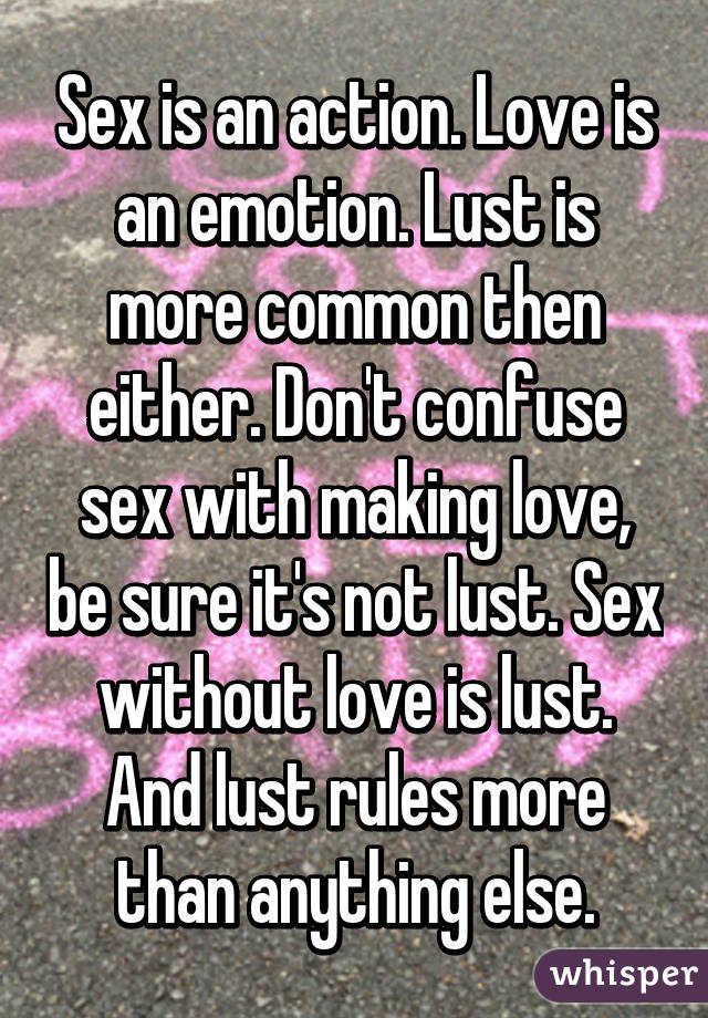 Anything for lust