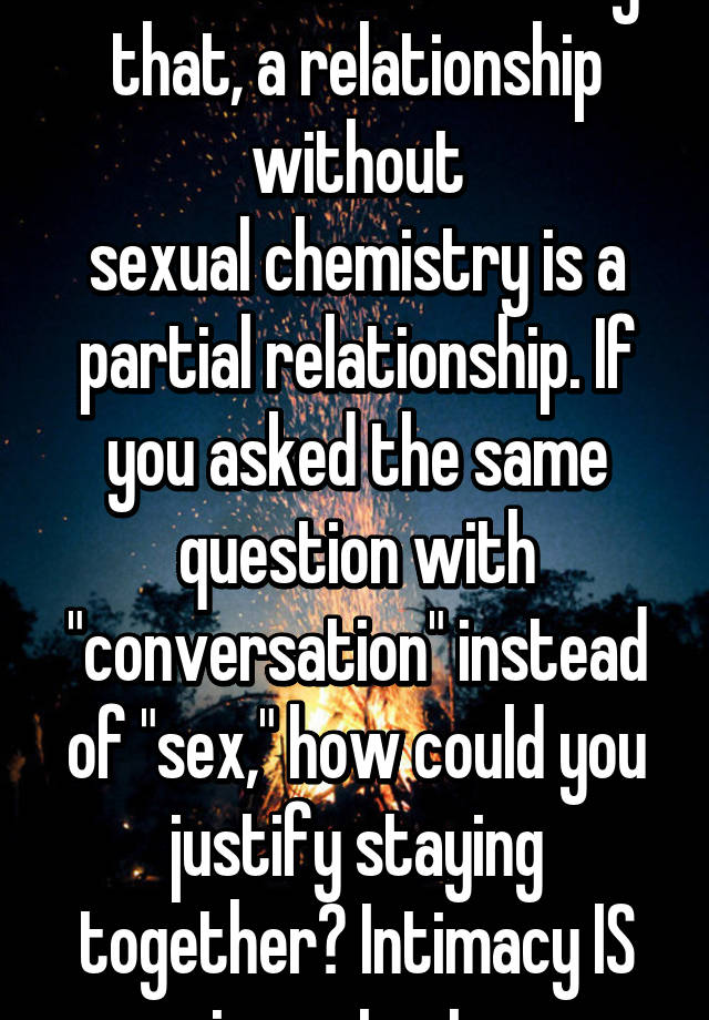 Sexual chemistry in a relationship