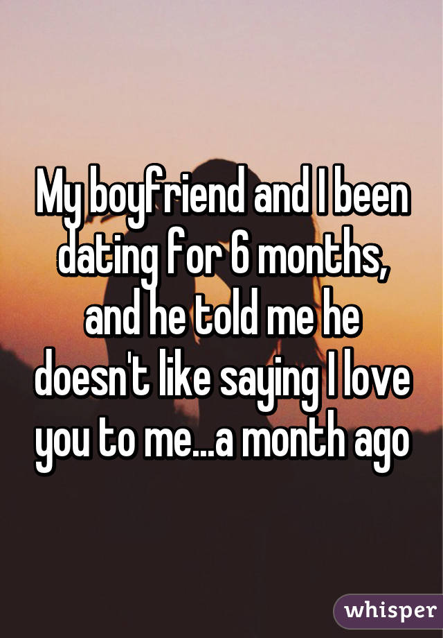 Dating 3 months saying i love you