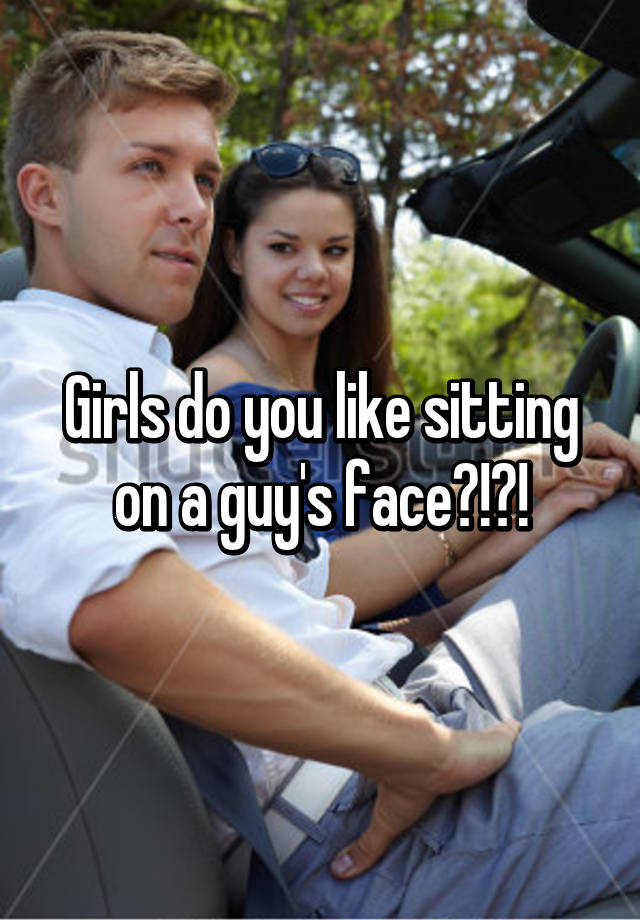 girl on face sits Girl