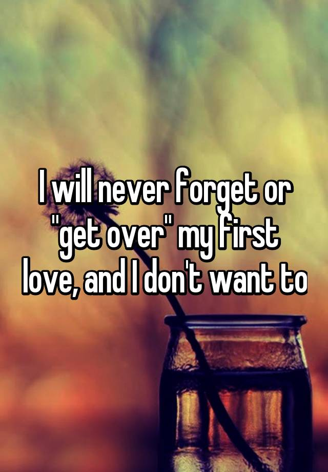 Can i forget my first love