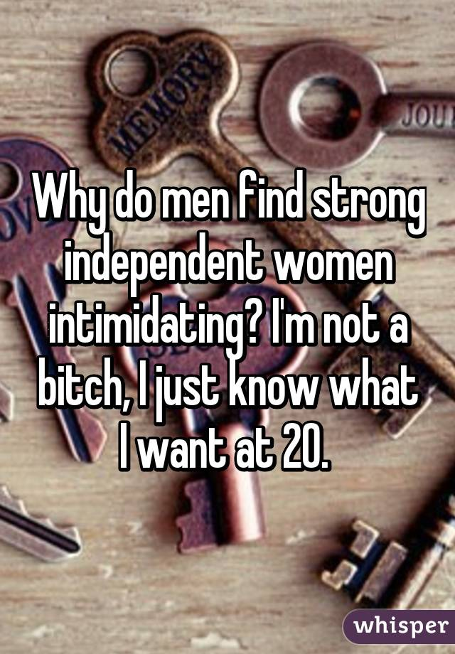 Do men like strong independent women