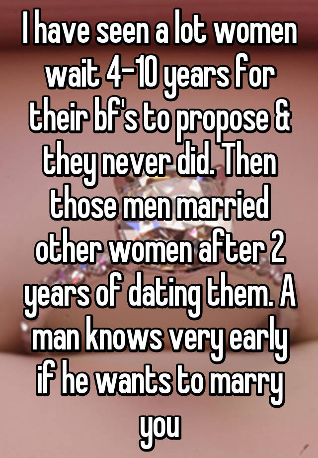 Dating married man for 2 years