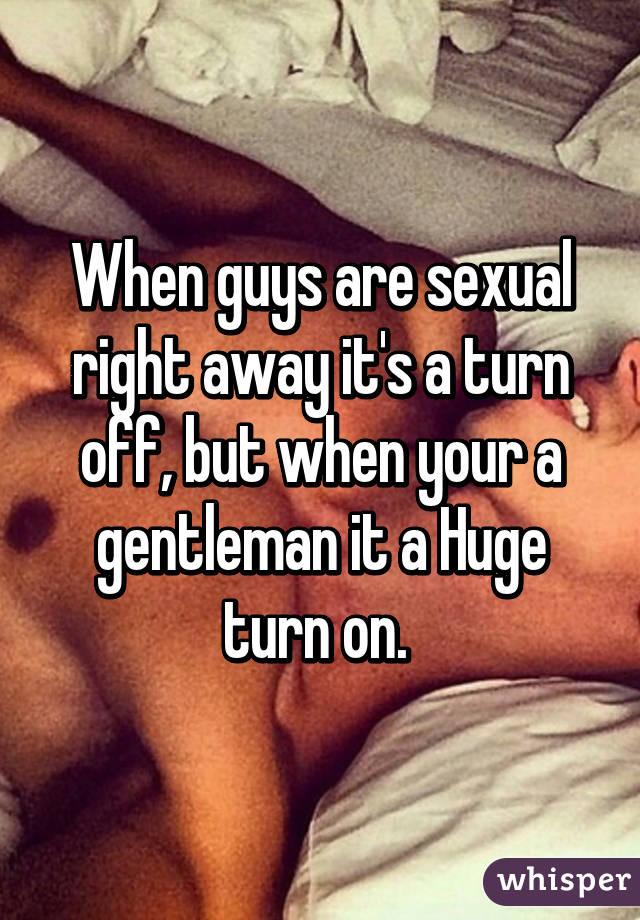 Guy sexual turn ons