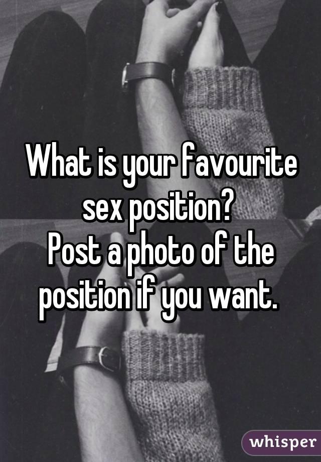 Favorite sex position post