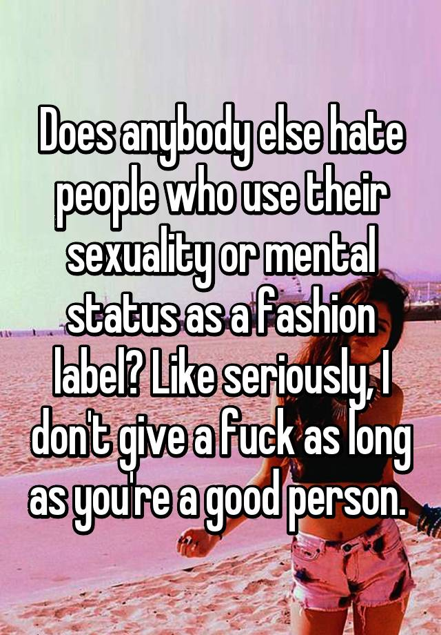 Labeling people sexuality seriously hurts everyone