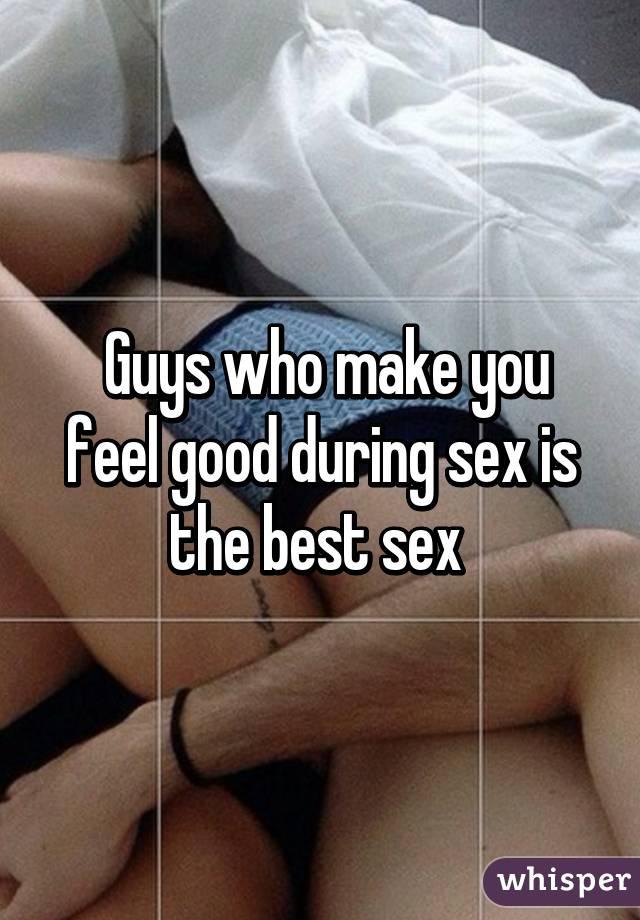 Does having sex feel good
