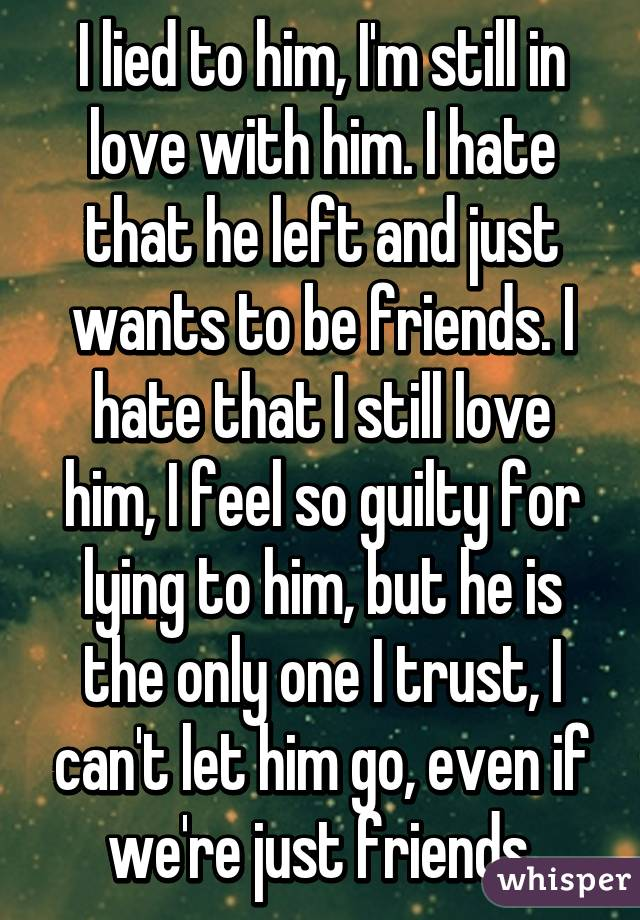Be I To Friends Wants Just Want But More She