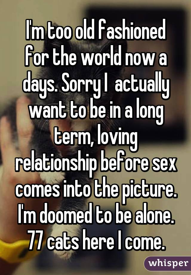 I am too old for sex