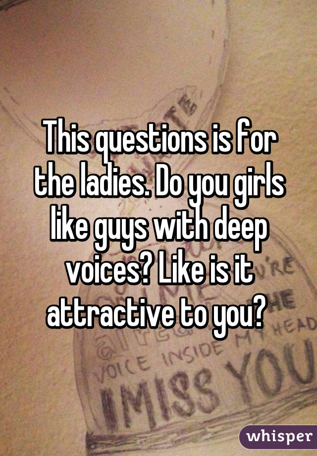 Questions that girls like