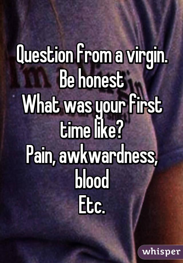 Virgins fist time