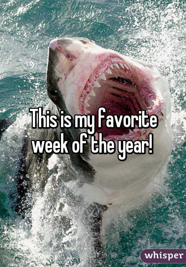This is my favorite week of the year!