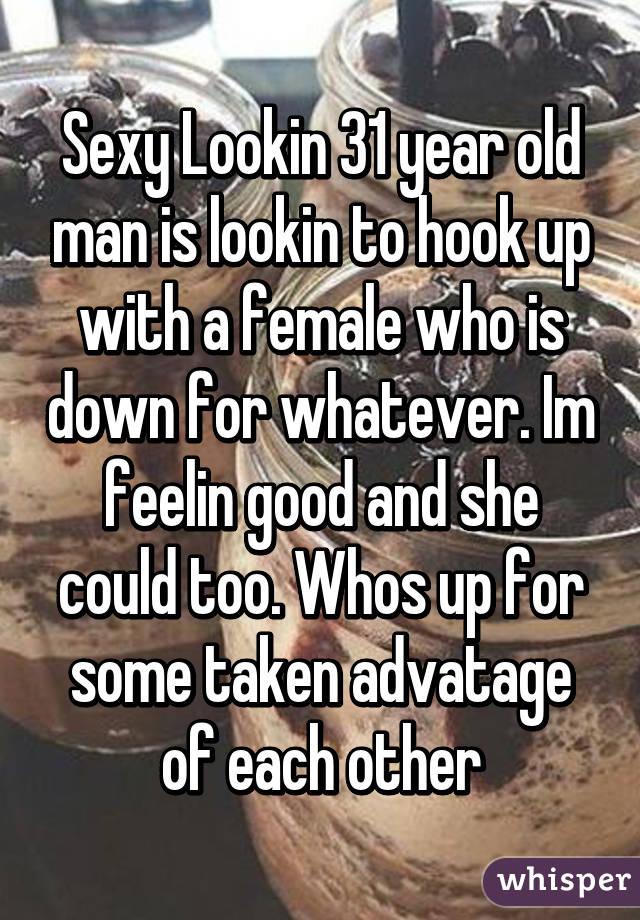 I am hookup an older man
