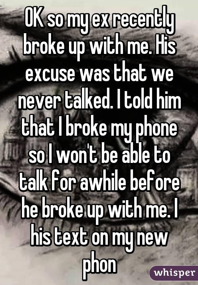 I realized i loved her after we broke up