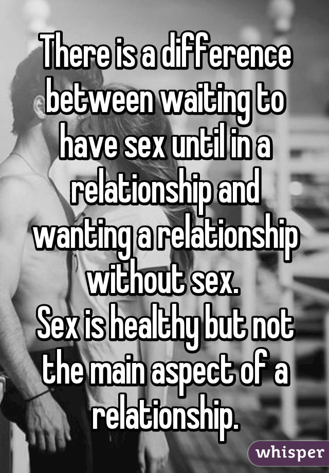 Waiting To Arrange Sex In A Relationship
