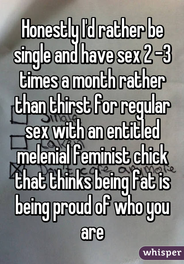 Sex 2 times a month