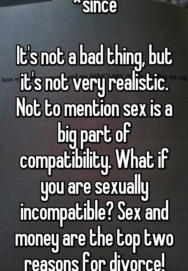 divorce sexually incompatible