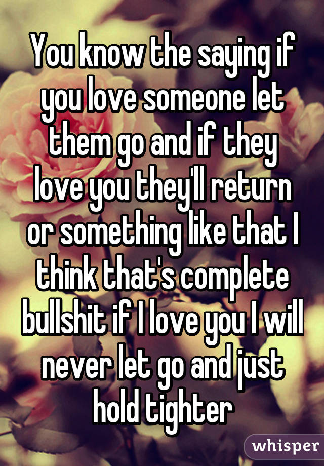 How to let go when you love someone