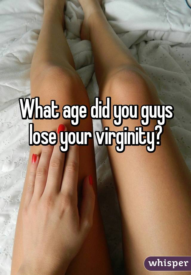 Guys losing virginity
