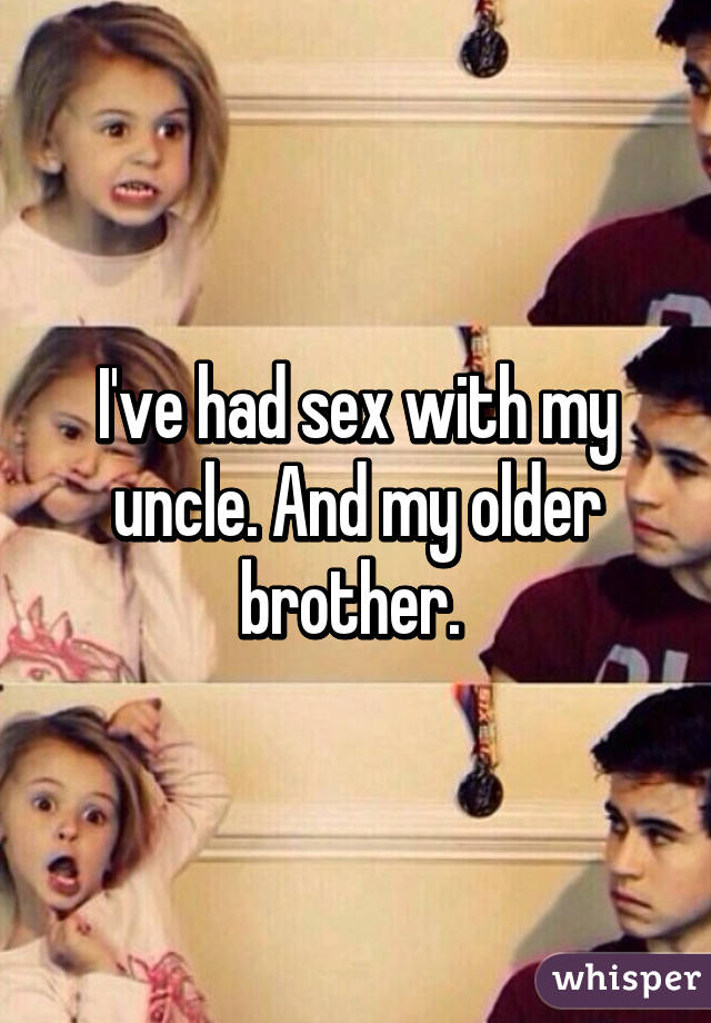 I am having sex with my brother