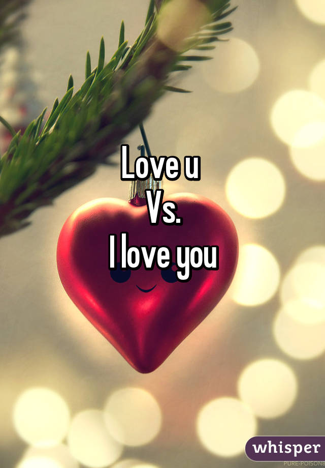 In love vs love you