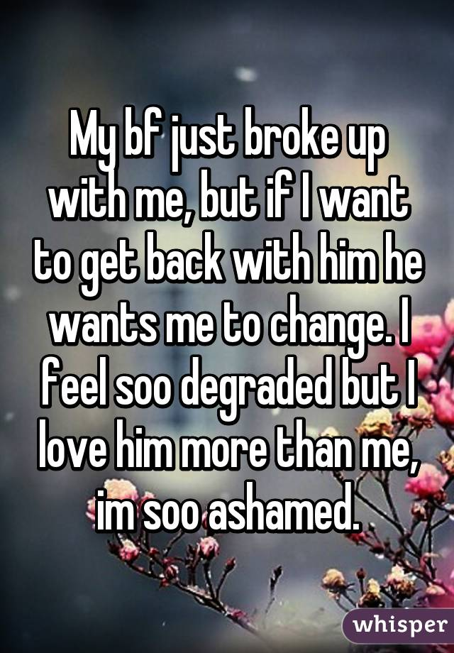 My boyfriend wants me to change