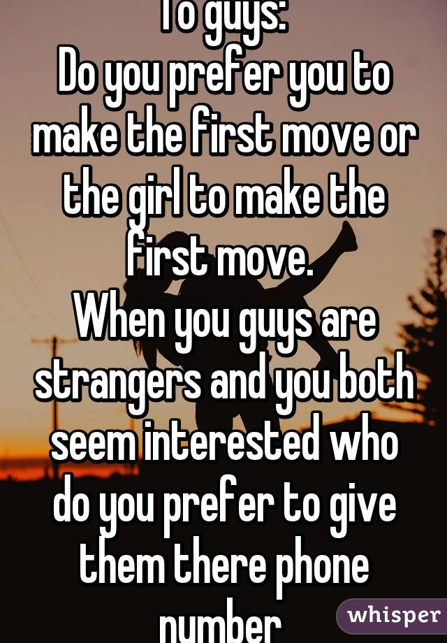 Can A Girl Make The First Move