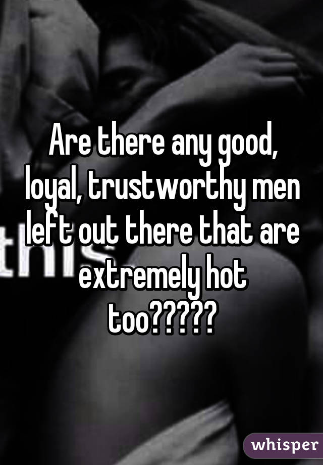 Are there any good guys left