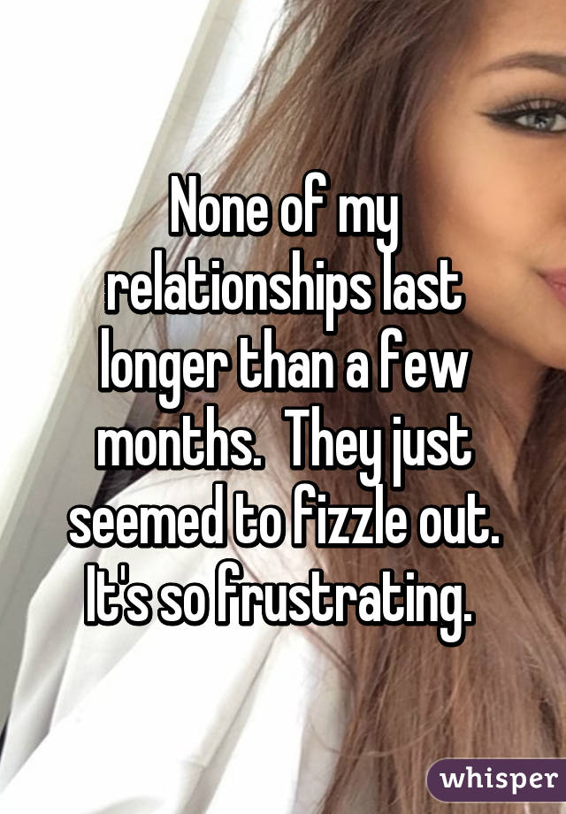 Relationship fizzling out