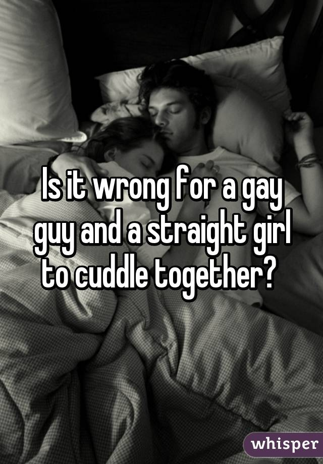 gay guy straight girl