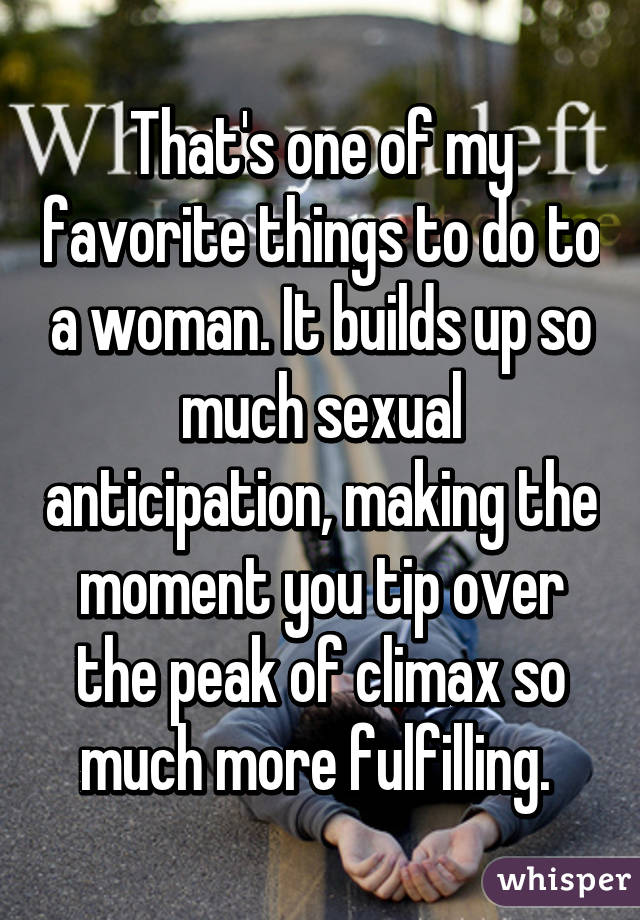 Favorite things to do sexually
