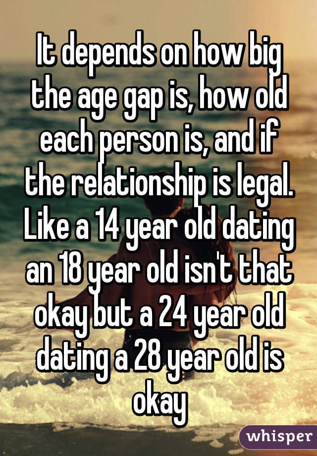 18 dating a 24 year old