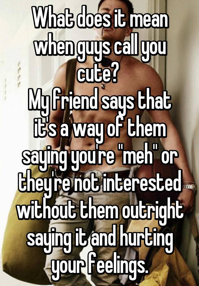 why do guys not call