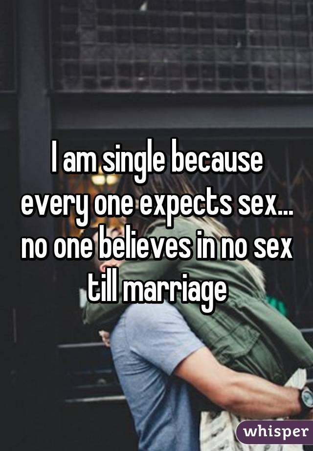 Not having sex till marriage